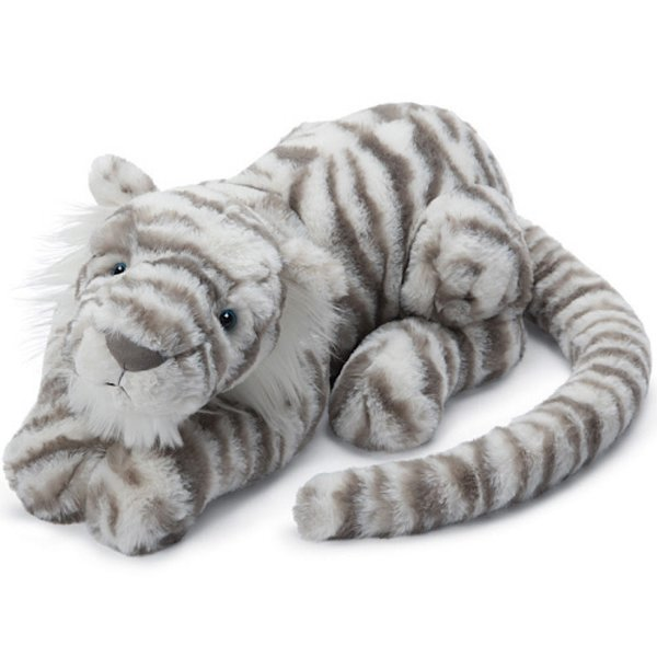Jellycat Jellycat Sacha Snow Tiger - Medium 11inch