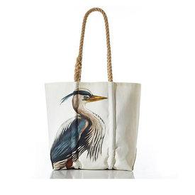 Sea Bags Sea Bags Great Blue Heron Tote - Hemp Handle - Medium