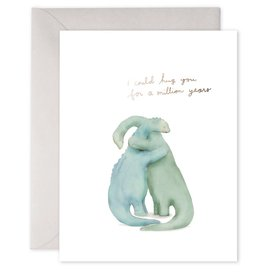 E Frances Paper E Frances Million Year Hug Card