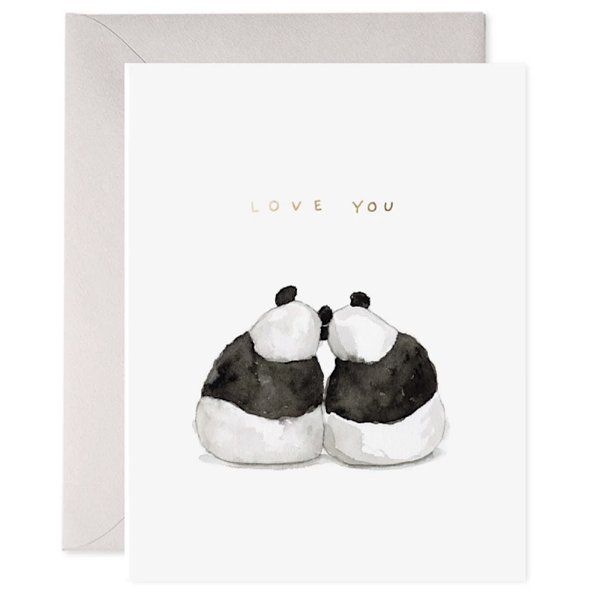 E Frances Paper E Frances Panda Pair Card