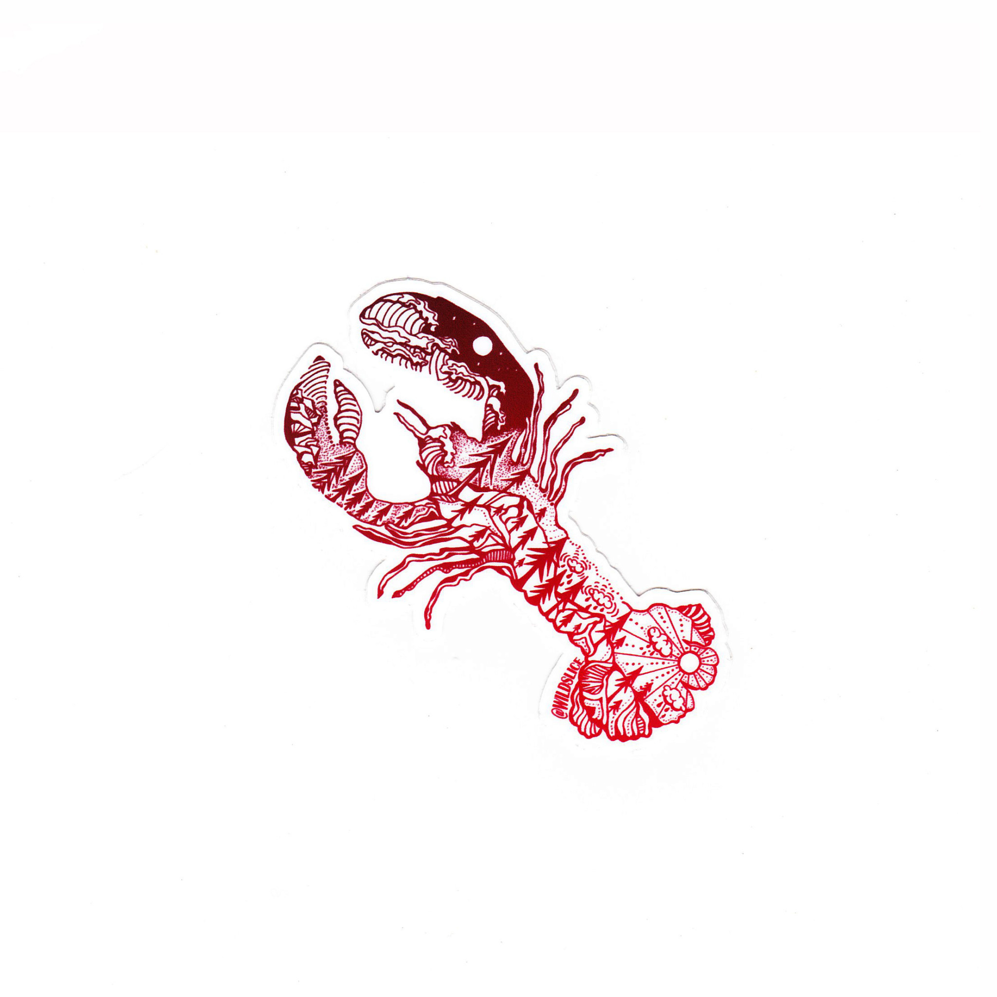 Wild Slice Design - Red Lobster Sticker