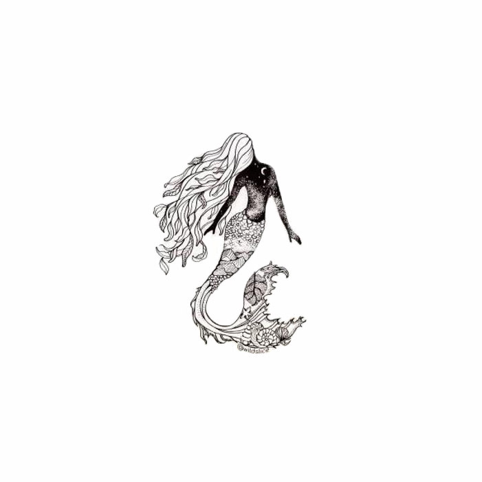 Wild Slice Design Wild Slice Design - Mermaid Sticker