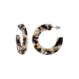 Machete Machete - Kate Hoop Earrings - Abalone