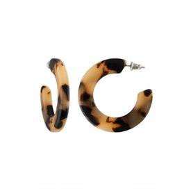Machete Machete - Kate Hoop Earrings - Blonde Tortoise