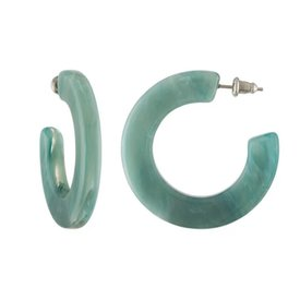 Machete Machete - Kate Hoop Earrings - Jadeite Green