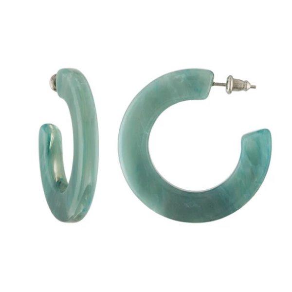 Machete Machete - Kate Hoop Earrings - Jadeite Green