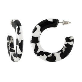 Machete Machete - Kate Hoop Earrings - Noir Tortoise