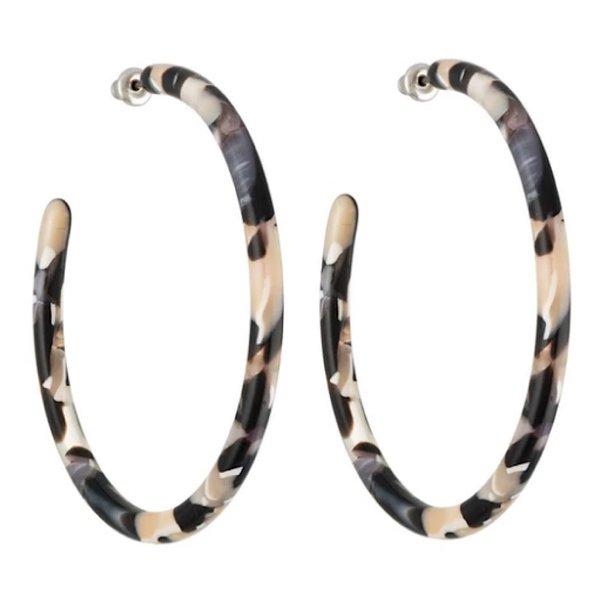 Machete Machete - Large Hoop Earrings - Abalone