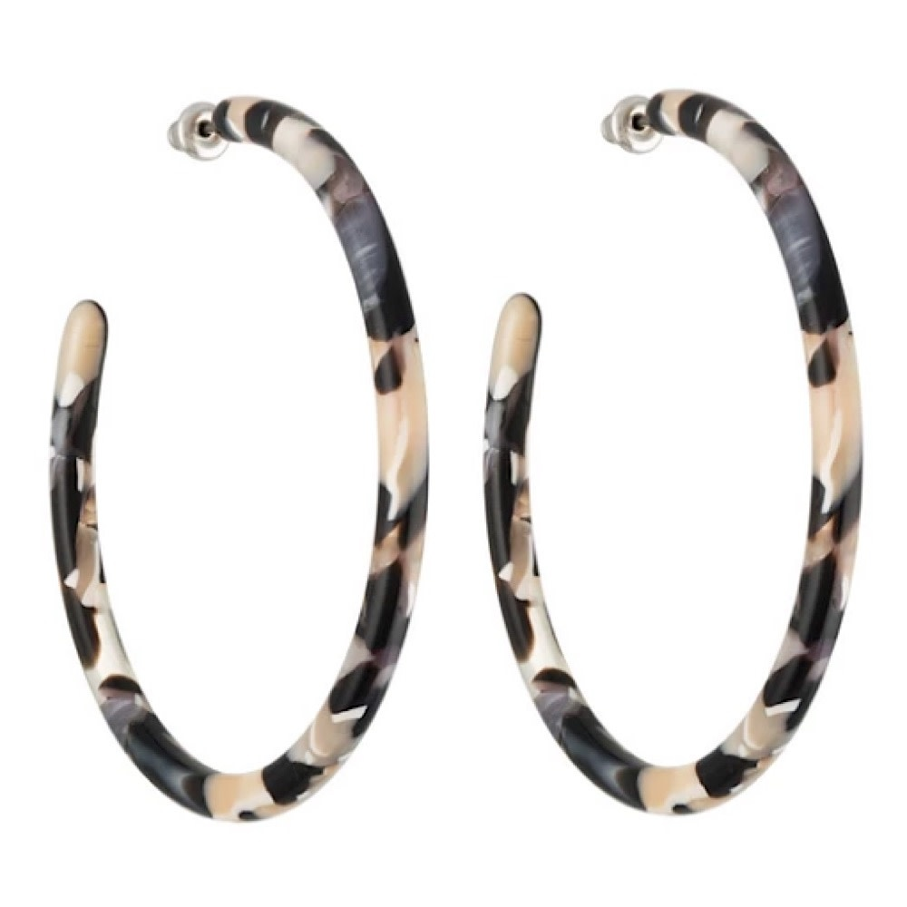 Machete - Large Hoop Earrings - Abalone