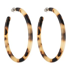 Machete Machete - Large Hoop Earrings - Blonde Tortoise