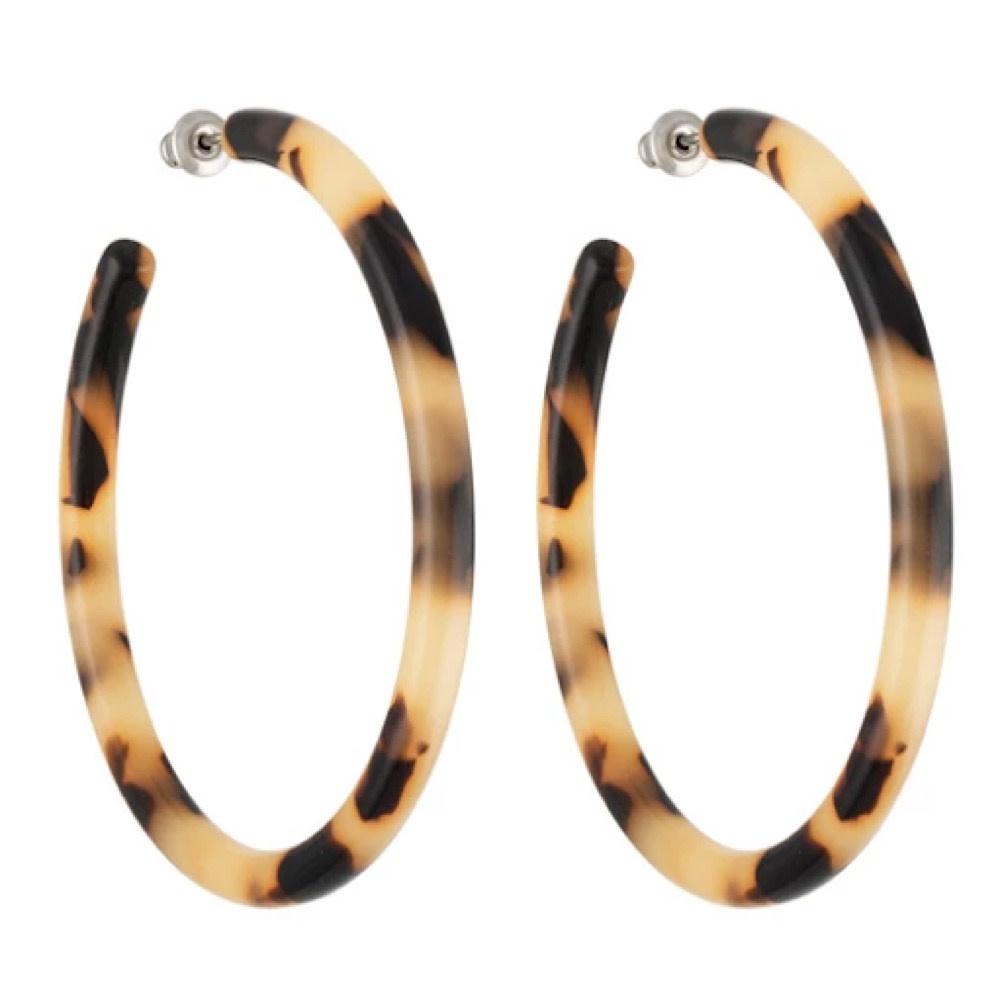 Machete - Large Hoop Earrings - Blonde Tortoise