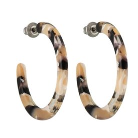 Machete Machete - Mini Hoop Earrings - Abalone