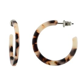 Machete Machete - Mini Hoop Earrings - Ash Blonde Tortoise