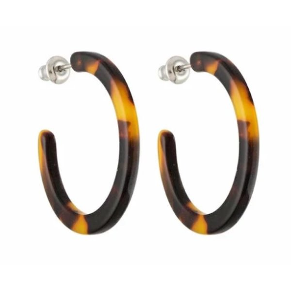 Machete Machete - Mini Hoop Earrings - Classic Tortoise