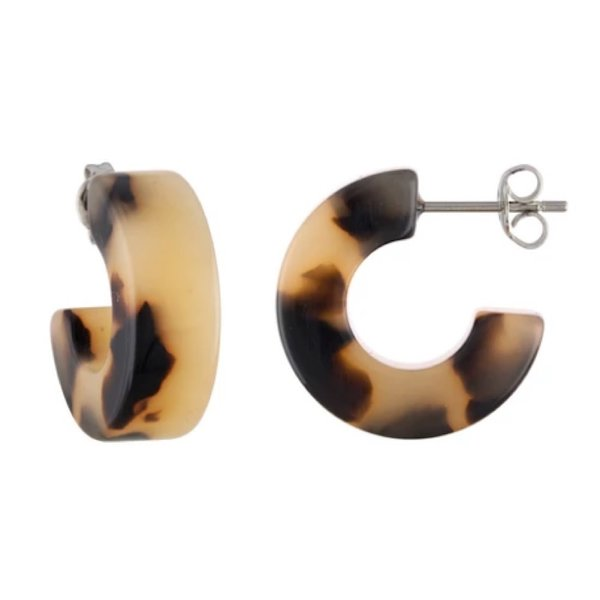 Machete Machete - Muse Hoop Earrings - Blonde Tortoise