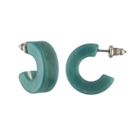 Machete Machete - Muse Hoop Earrings - Jadeite Green