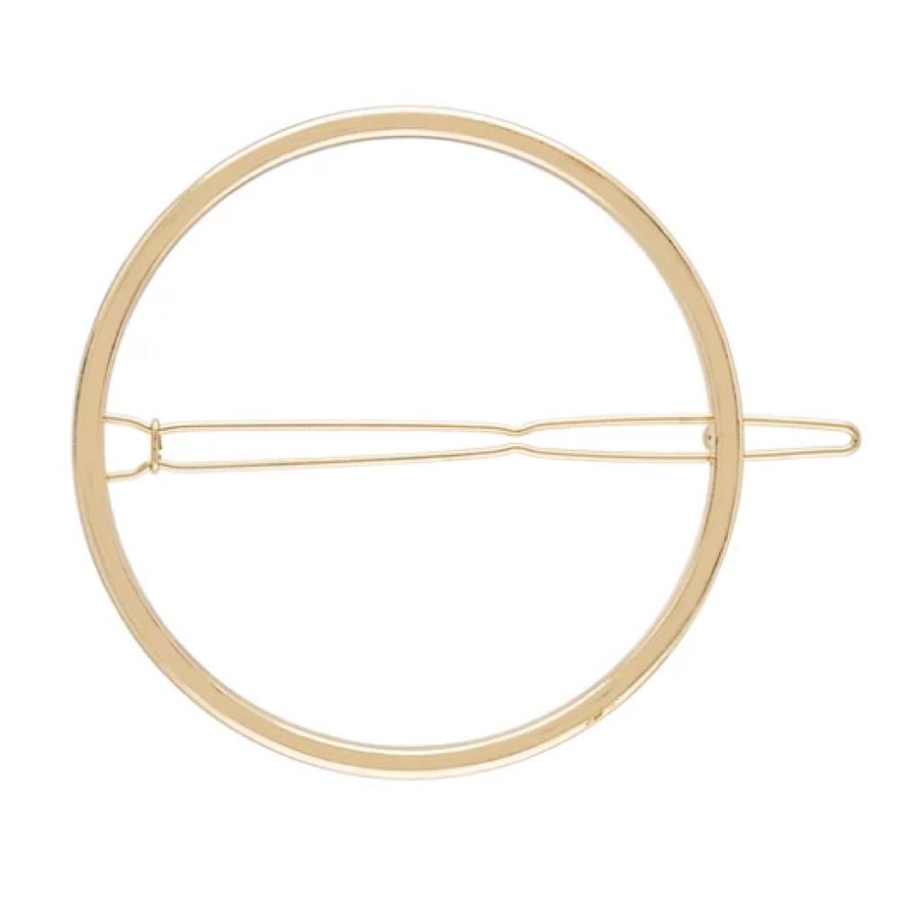 Machete - Small Circle Hair Clip - Gold Shine