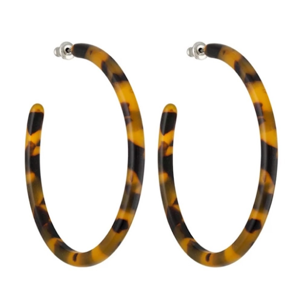 Machete - Large Hoop Earrings - Classic Tortoise