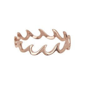 Pura Vida Pura Vida Wave Band Ring - Rose Gold