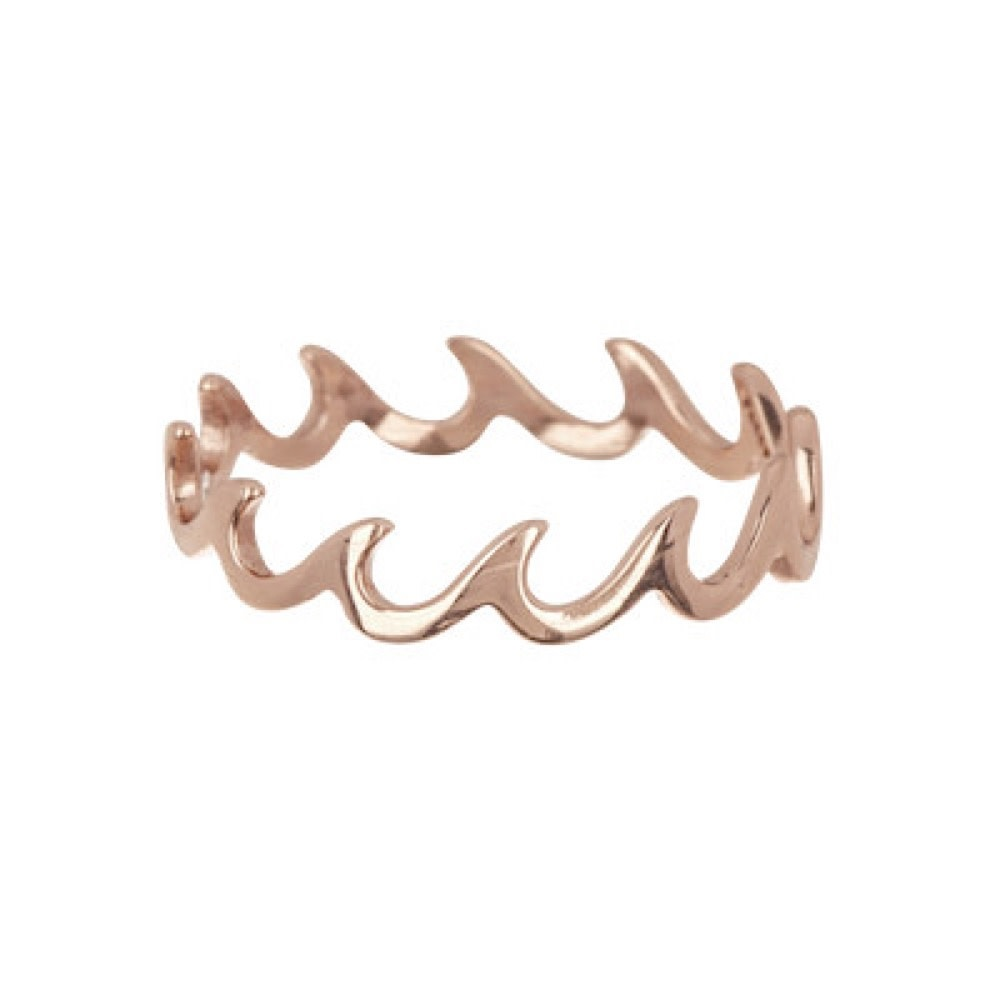 Pura Vida Pura Vida Wave Band Ring - Rose Gold