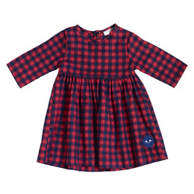 Smiling Button Smiling Button Winnie Dress - Red/Black Buffalo Check - Trunk Show