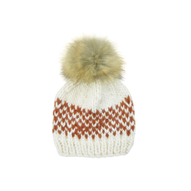 The Blueberry Hill The Blueberry Hill Adult Fair Isle Hat - Cinnamon - L