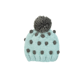The Blueberry Hill The Blueberry Hill Adult Popcorn Hat Blue and Hunter Green - L