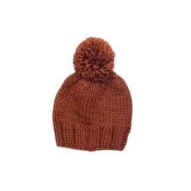 The Blueberry Hill The Blueberry Hill Adult Single Pom Hat - Cinnamon - L