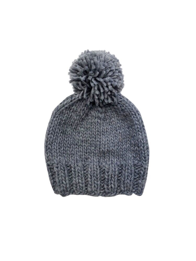 The Blueberry HIll Adult Single Pom Hat - Grey - L