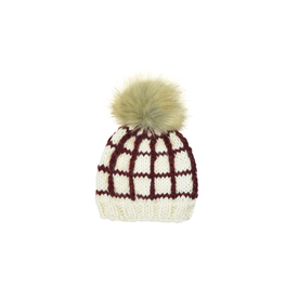 The Blueberry Hill The Blueberry Hill Adult Window Pane Hat Pomegranate - L