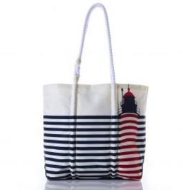 Sea Bags Sea Bags West Quoddy Head Stripe - Hemp Handle - Medium