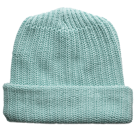 Columbiaknit Solid Cotton Knit Hat - Aqua