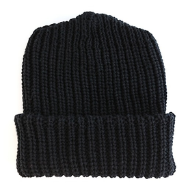 Columbiaknit Solid Cotton Knit Hat - Black