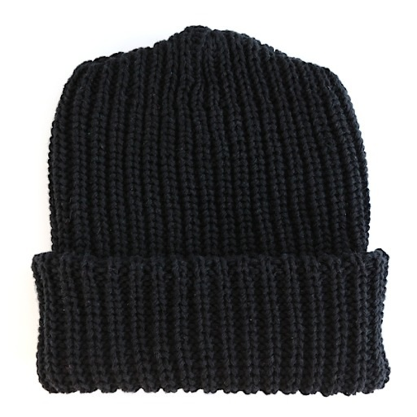 Columbiaknit Solid Cotton Knit Hat - Black