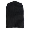 Solid Cotton Knit Hat - Black