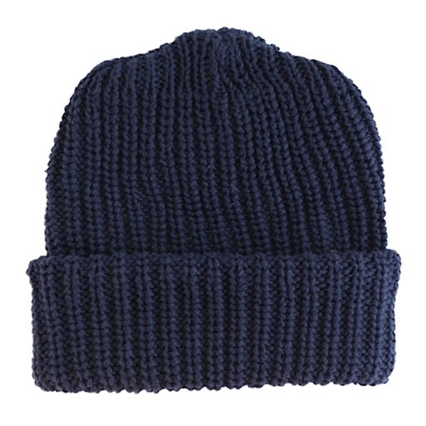 Columbiaknit Solid Cotton Knit Hat - Navy