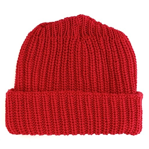 Columbiaknit Solid Cotton Knit Hat - Red