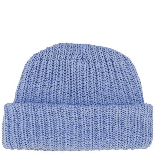 Solid Cotton Knit Hat - Soft Blue
