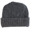 Marled Cotton Knit Hat - Black Charcoal