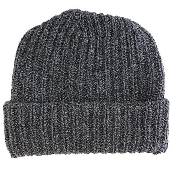 Columbiaknit Marled Cotton Knit Hat - Black Charcoal
