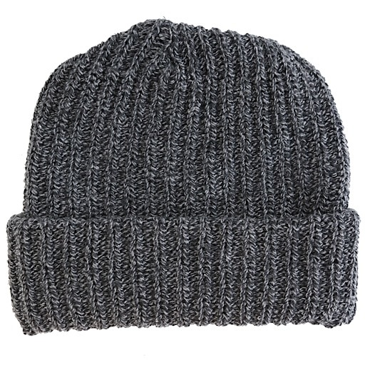 Columbiaknit Marled Cotton Knit Hat - Black Charcoal