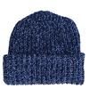 Marled Cotton Knit Hat - Blue