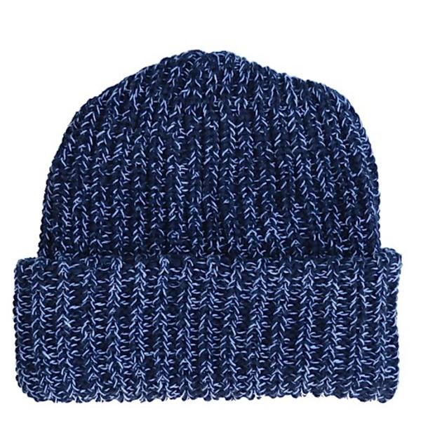 Columbiaknit Marled Cotton Knit Hat - Blue