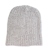 Marled Cotton Knit Hat - Coffee