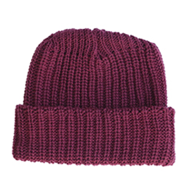 Columbiaknit Solid Cotton Knit Hat - Burgundy