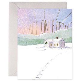 E Frances Paper E Frances Snowy Cabin Card