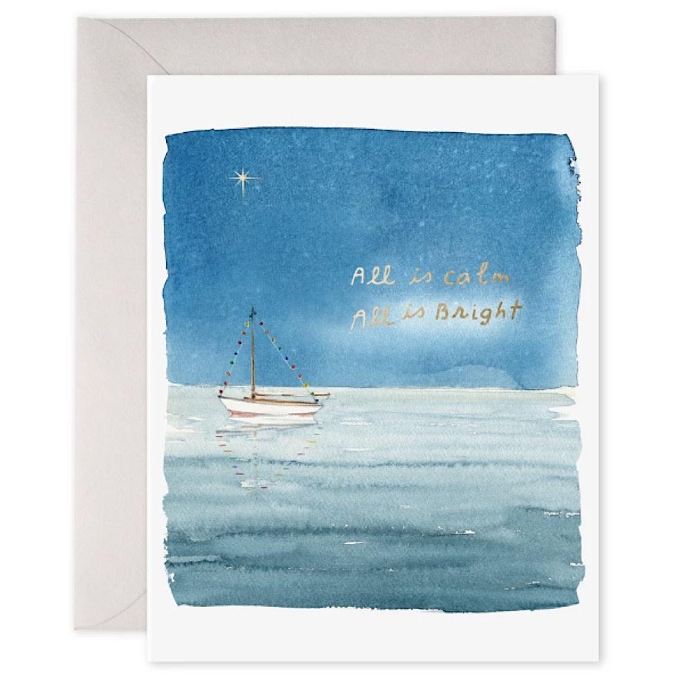 E Frances Holiday Sailboat Card - Box of 6