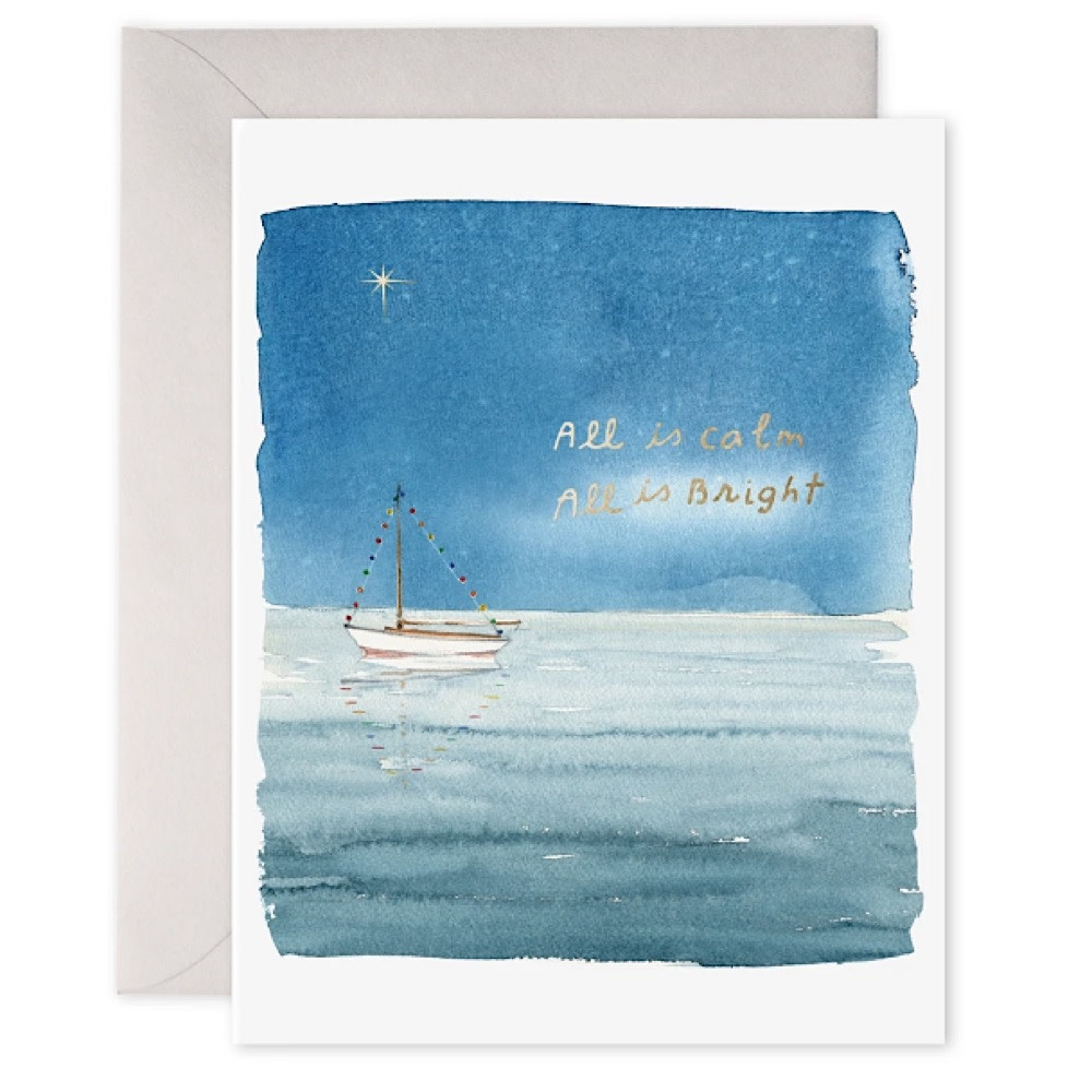 E Frances Paper E Frances Holiday Sailboat Card - Box of 6
