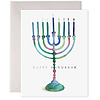E Frances Colorful Menorah Card