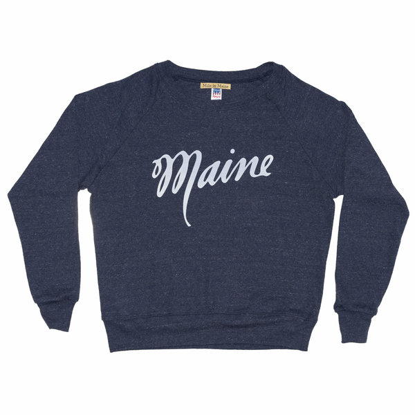 Milo in Maine Milo in Maine Women's Long Sleeve Raglan Pullover - Maine Script